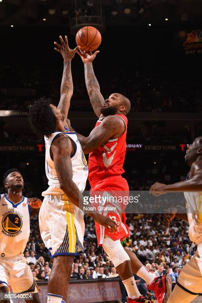 Tucker of the Houston Rockets shoots the ball against the Golden State Warriors on October 17 2017 at ORACLE Arena in Oakland California NOTE TO USER...