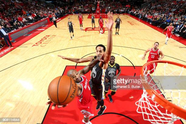 Tucker of the Houston Rockets shoots the ball against the Golden State Warriors on January 20 2018 at the Toyota Center in Houston Texas NOTE TO USER...