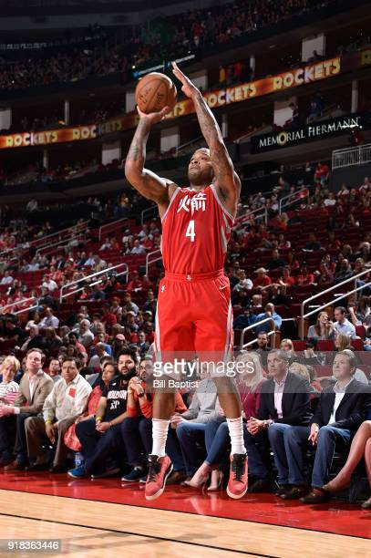 Tucker of the Houston Rockets shoots the ball against the Sacramento Kings on February 14 2018 at the Toyota Center in Houston Texas NOTE TO USER...