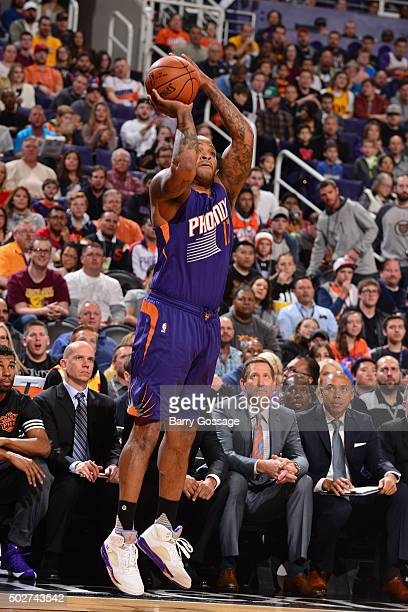 J Tucker of the Phoenix Suns shoots the ball against the Cleveland Cavaliers on December 28 2015 at US Airways Center in Phoenix Arizona NOTE TO USER...