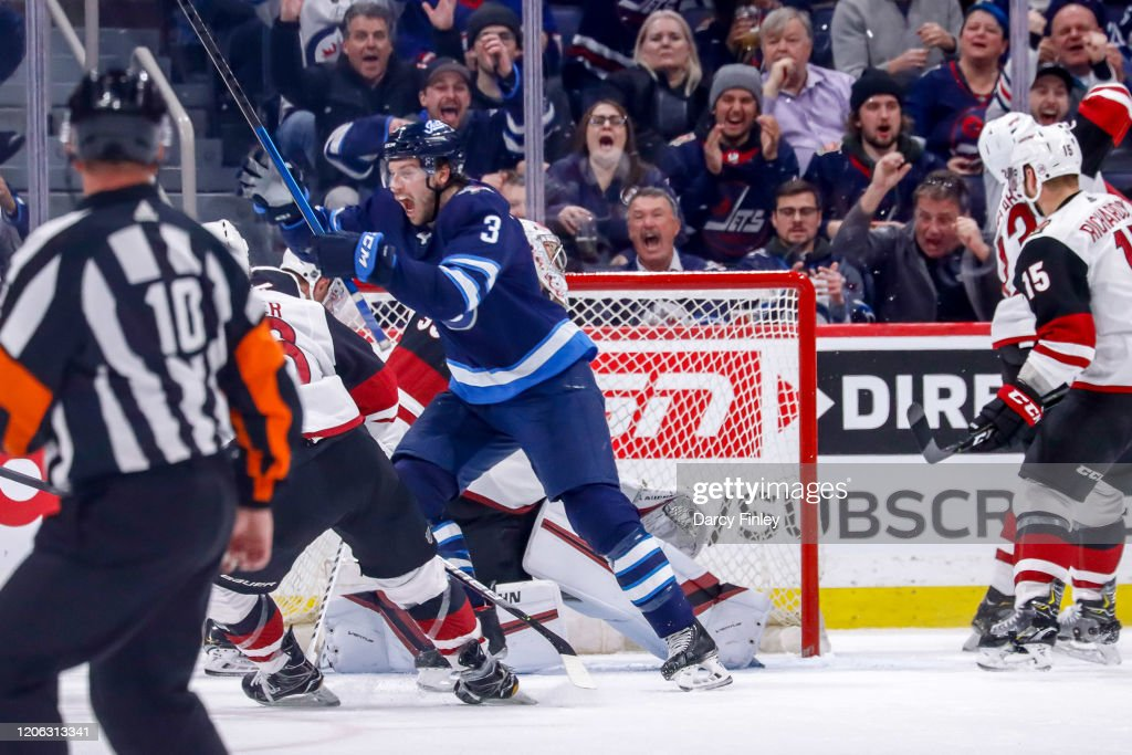 Tucker Poolman Of The Winnipeg Jets Celebrates After Scoring A Second News Photo Getty Images