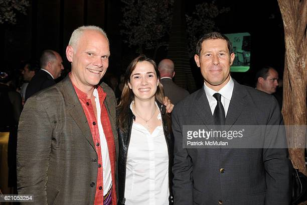 Tucker Robbins Claire Pijoulat and Claude Girard attend METROPOLITAN HOME Design 100 Party at The Four Seasons Restaurant on May 20 2008 in New York...