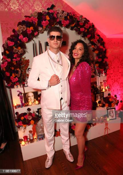 Tucker Roberts and Olivia Munn attend A Day of the Dead Celebration with Bea Åkerlund and Miranda Dickson at the Private Residence of Jonas Tahlin,...