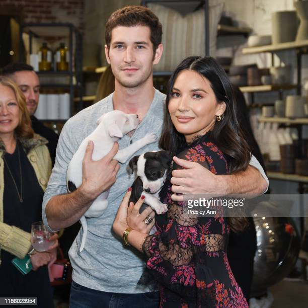 Tucker Roberts and Olivia Munn attend Love Leo Rescue's 2nd Annual Cocktails for a Cause at Rolling Greens Los Angeles on November 06 2019 in Los...