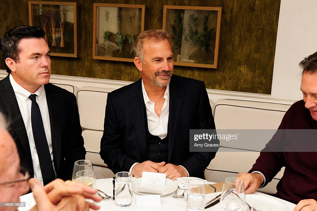 Tucker Tooley and Kevin Costner attend a special luncheon for Kevin Costner and Mike Binder hosted by Colleen Camp for the film BLACK OR WHITE at Fig & Olive Melrose Place on December 15, 2014 in West Hollywood, California.