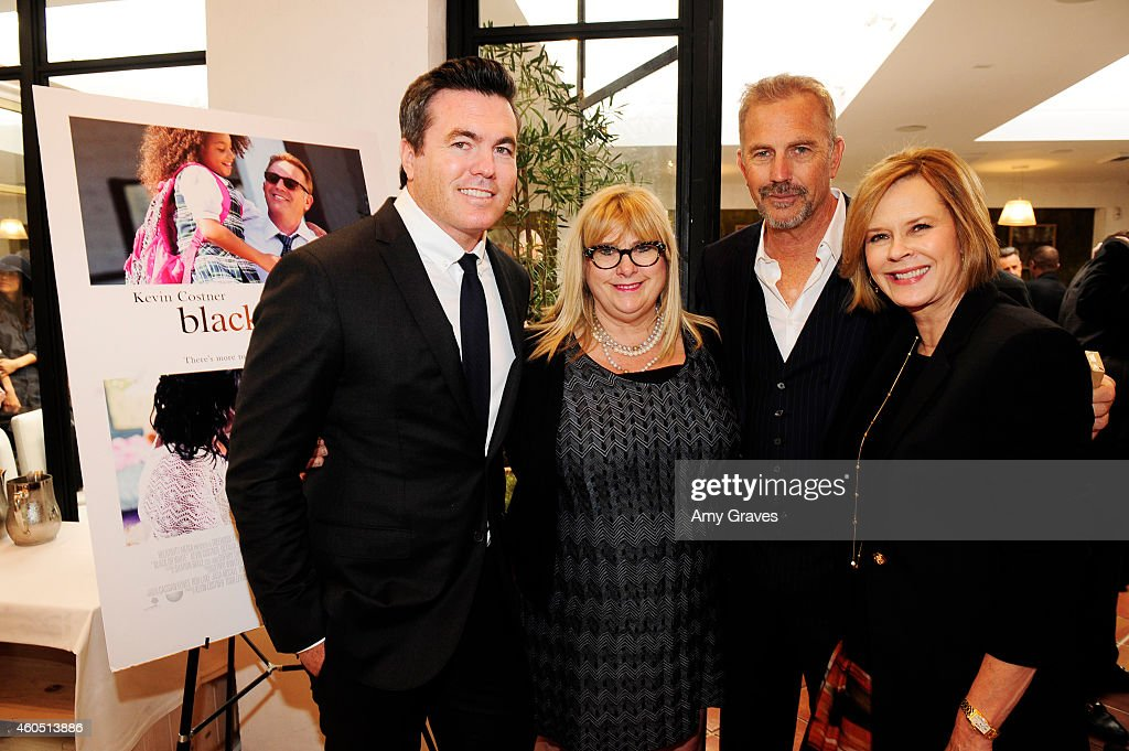 Tucker Tooley, Colleen Camp, Kevin Costner and JoBeth Williams attend a special luncheon for Kevin Costner and Mike Binder hosted by Colleen Camp for the film BLACK OR WHITE at Fig & Olive Melrose Place on December 15, 2014 in West Hollywood, California.