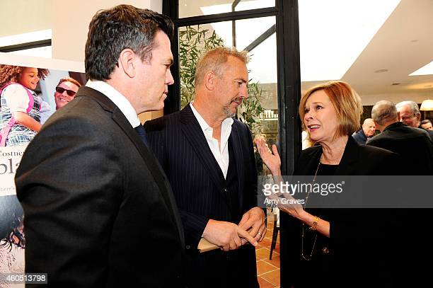 Tucker Tooley Kevin Costner and JoBeth Williams attend a special luncheon for Kevin Costner and Mike Binder hosted by Colleen Camp for the film BLACK...