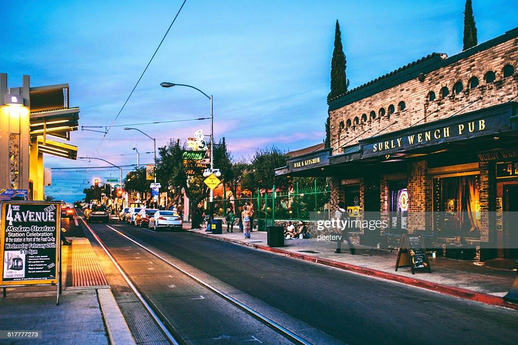 Tucson, 4th Avenue. : Stock Photo