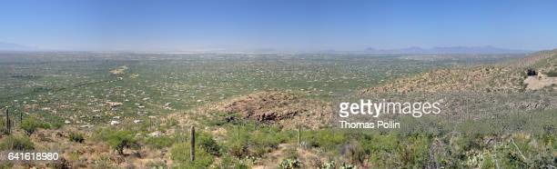 tucson panorama - mt lemmon stock photos and pictures