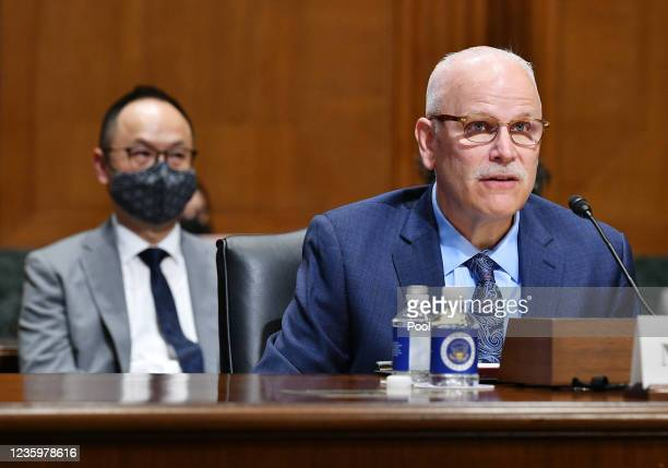 Tucson Police Chief Chris Magnus testifies before the Senate Finance Committee in the Dirksen Senate Office Building on Capitol Hill, October 19,...