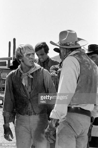 CHAPARRAL Tucson Press Junket Pictured Mark Slade as Billy Blue Cannon Ted Markland as Reno and Leif Erickson as Big John Cannon