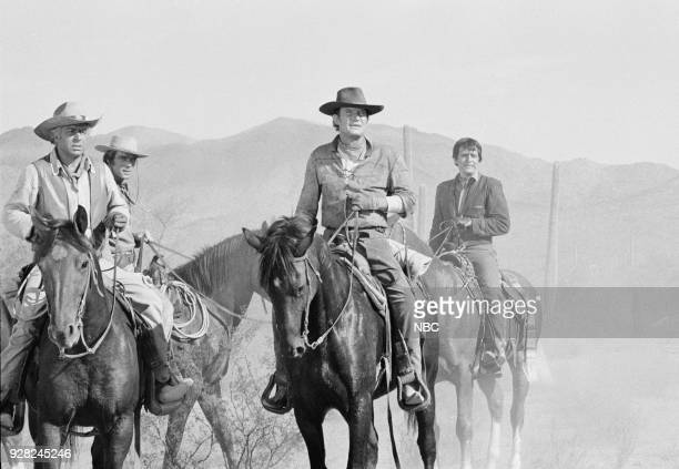 CHAPARRAL Tucson Press Junket Pictured Unknown Ted Markland as Reno Don Collier as Sam Butler Henry Darrow as Manolito Montoya