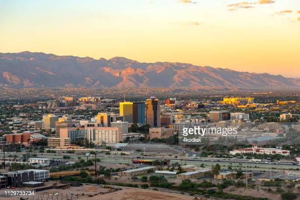 tucson skyline - tucson stock pictures, royalty-free photos & images