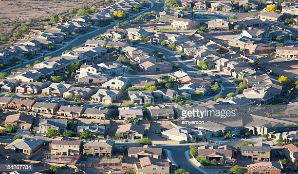 tucson subdivision aerial view - tucson stock pictures, royalty-free photos & images