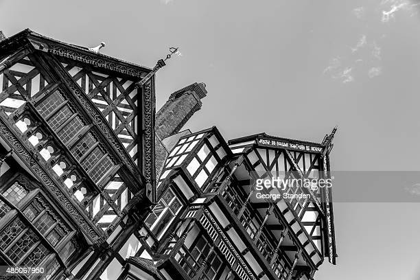 tudor architecture chester - chester england stock pictures, royalty-free photos & images
