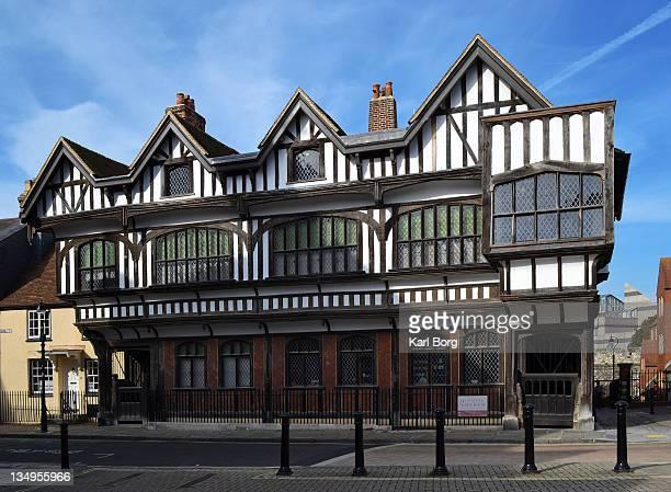 tudor house - southampton england stock pictures, royalty-free photos & images