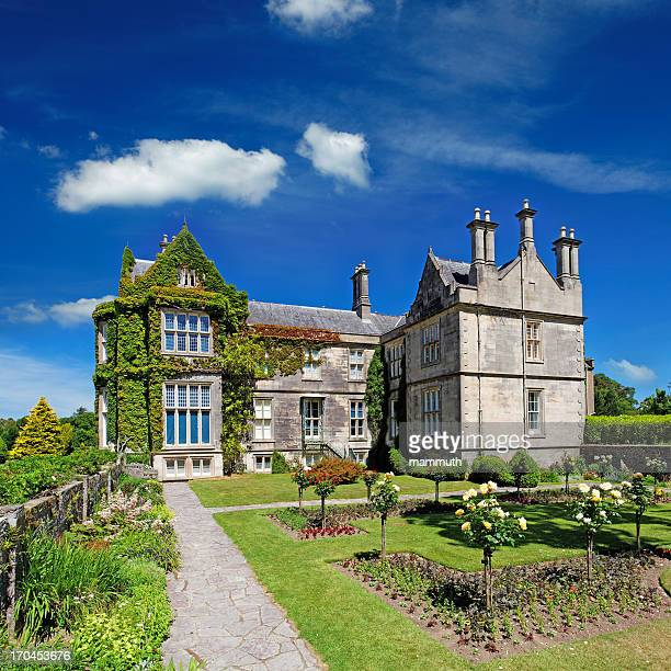 tudor style mansion in ireland - grounds stock pictures, royalty-free photos & images