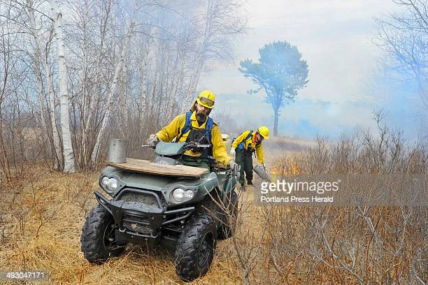 Tuesday April 16 2013 A team of US Fish and Wildlife workers led by John Meister the fire management specialist for New England conducted a...
