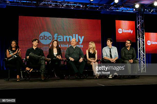 TOUR Tuesday January 12 2010 The cast and executive producer of '10 Things I Hate About You' address the press at DisneyABC Television Group's 2010...