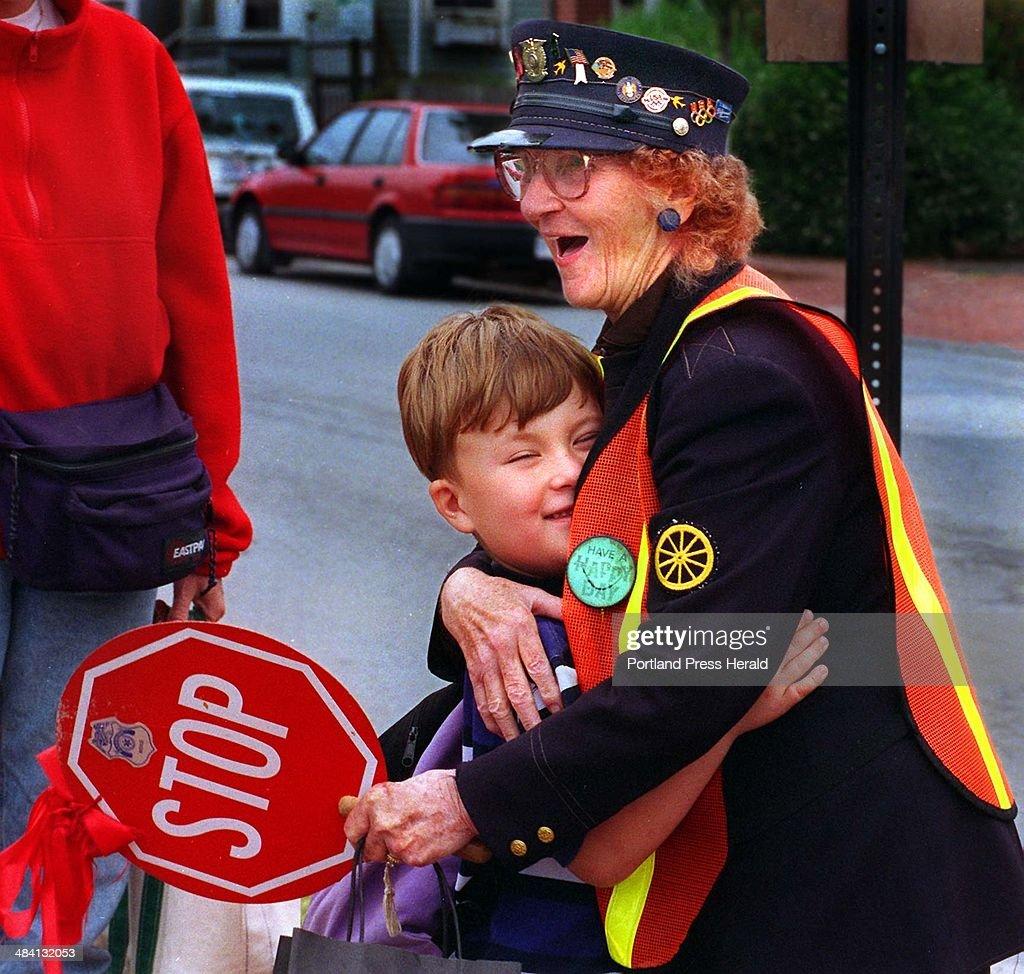 Ruth u0027Brownieu0027 Brown a crossing guard for 42 years gets a hug  sc 1 st  Getty Images & Ruth u0027Brownieu0027 Brown a crossing guard for 42 years gets a hug from ...