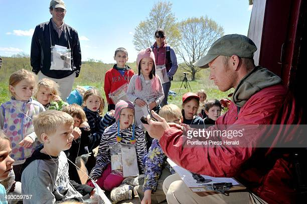 Tuesday May 14 2013 Elementary school children from Waynflete got an opportunity to see birds captured and banded by biologists with the Biodiversity...