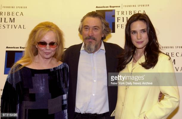 Tuesday Weld Robert De Niro and Jennifer Connelly arrive for a special screening of 'Once Upon a Time in America' at Pace University during the...