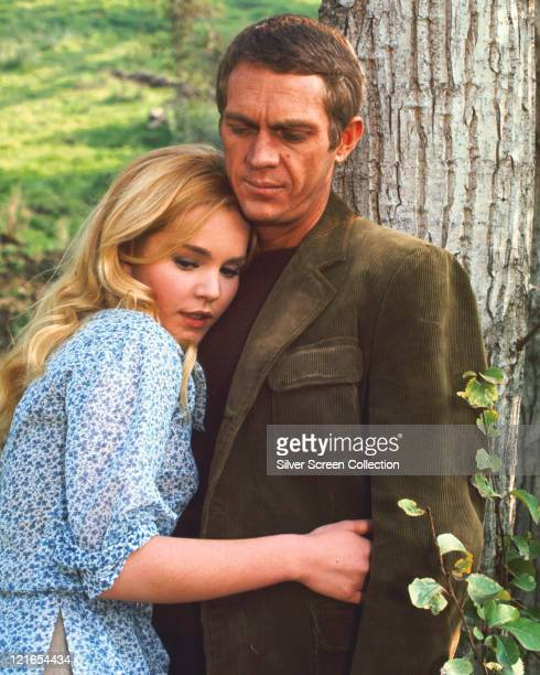 Tuesday Weld US actress embracing Steve McQueen US actor in a publicity still issued for the film 'Soldier in the Rain' 1963 The comedydrama directed...