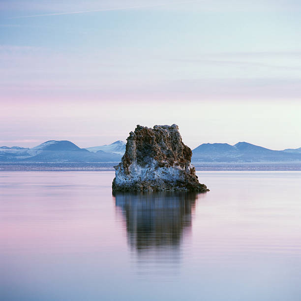 Tufa Formation reflected in Mono Lake, California
