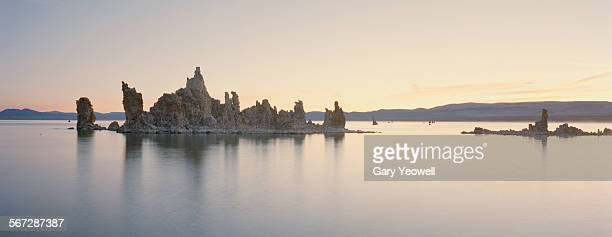 tufa limestone formation in mono lake - yeowell stock photos and pictures