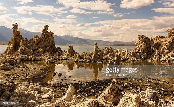 Tufa towers and reflections