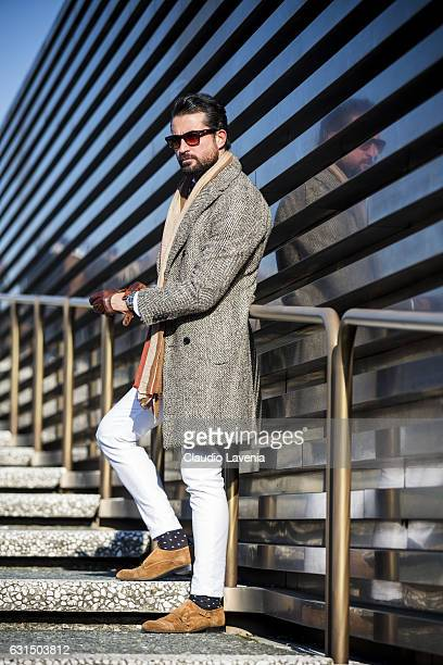 Tufan Irfan is seen on January 11 2017 in Florence Italy