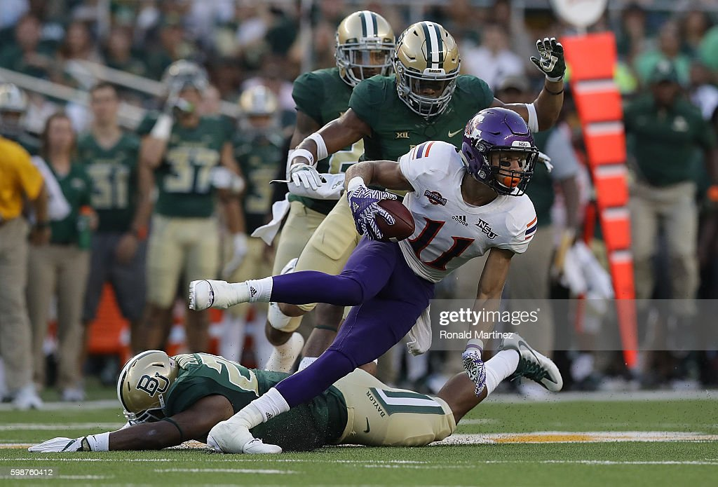 Tuff McClain #11 of the Northwestern State Demons runs the ball against the Baylor Bears at McLane Stadium on September 2, 2016 in Waco, Texas.