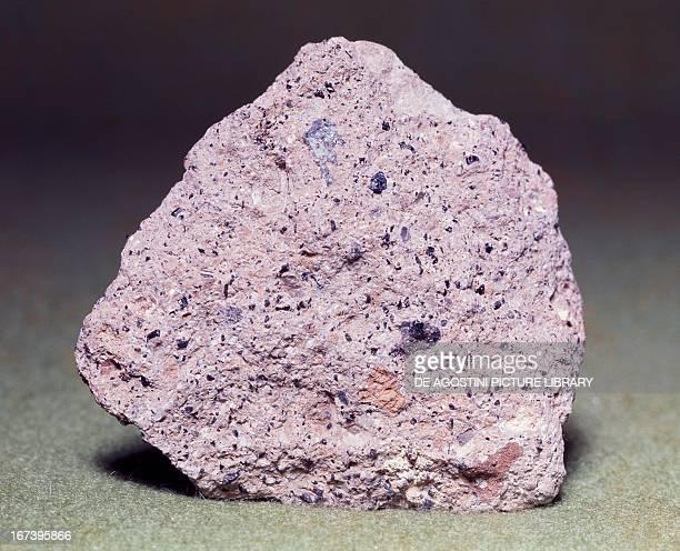 Tuff pyroclastic sedimentary rock