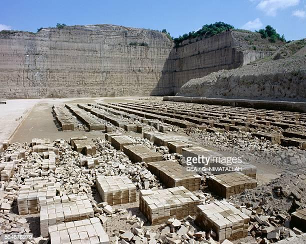 Tuff quarry Lazio Italy