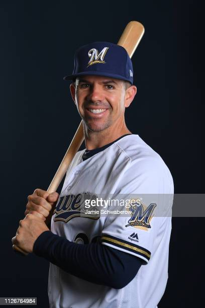 Tuffy Gosewisch of the Milwaukee Brewers poses during the Brewers Photo Day on February 22 2019 in Maryvale Arizona