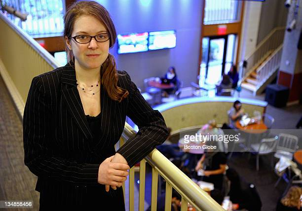Tufts University senior Andrea Lowe is president of Tufts Democrats in Medford Thursday February 25 2010