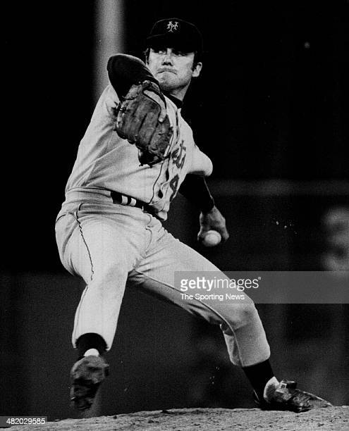 Tug McGraw of the New York Mets pitches circa 1960s