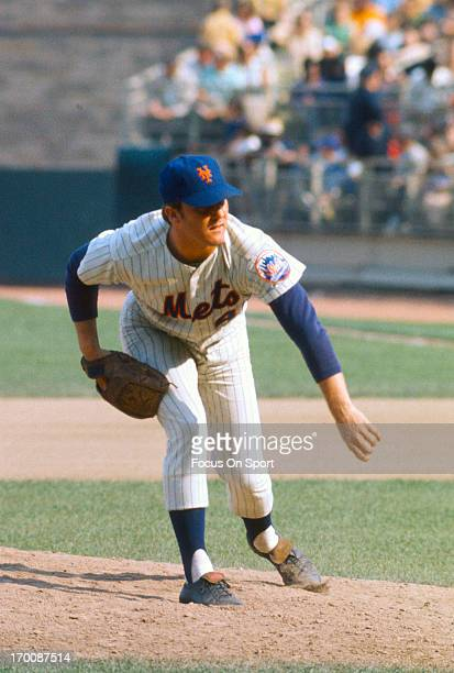 Tug McGraw of the New York Mets pitches during an Major League Baseball game circa 1970 at Shea Stadium in the Queens borough of New York City McGraw...