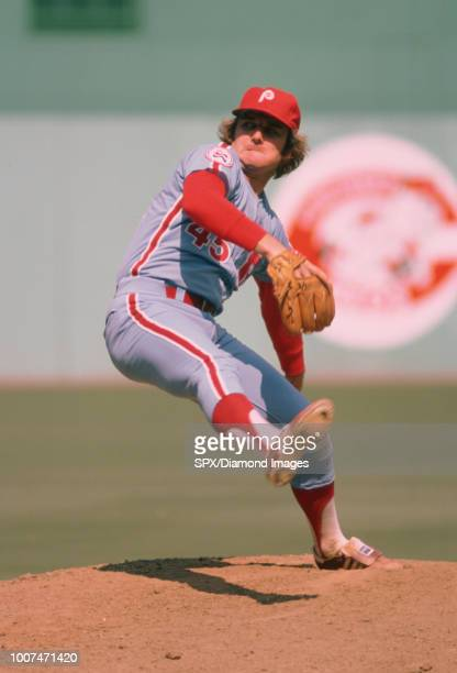 Tug McGraw of the Philadelphia Phillies pitching during a game from his 1976 season with the Philadelphia Phillies Tug McGraw played for 19 years...