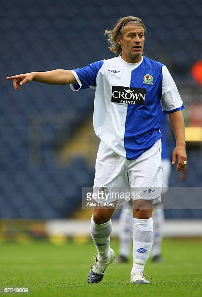 Tugay of Blackburn Rovers during the Pre Season Friendly match between Blackburn Rovers and NAC Breda at Ewood Park on August 9, 2008 in Blackburn,...