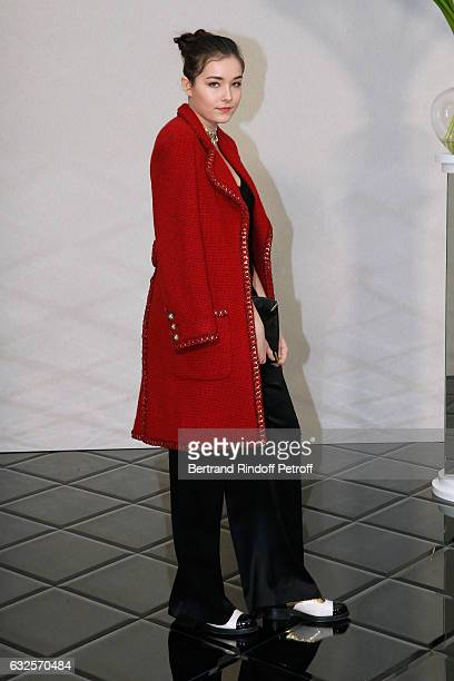 Tugba Sunguroglu attends the Chanel Haute Couture Spring Summer 2017 show as part of Paris Fashion Week on January 24 2017 in Paris France