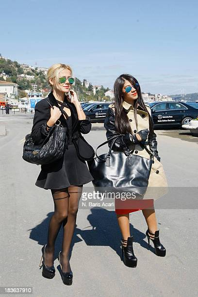 Tugba Tunckaya wears a Armani jacketa Prada bag Assos top and Istapark shoes and Ceda Pamuk wears Zara top and bagIperkyol skirt Burberry trench and...