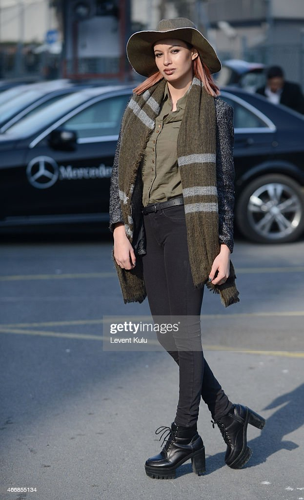 Street Style - Day 4 - Mercedes Benz Fashion Week Istanbul Fall/Winter 2015 : News Photo
