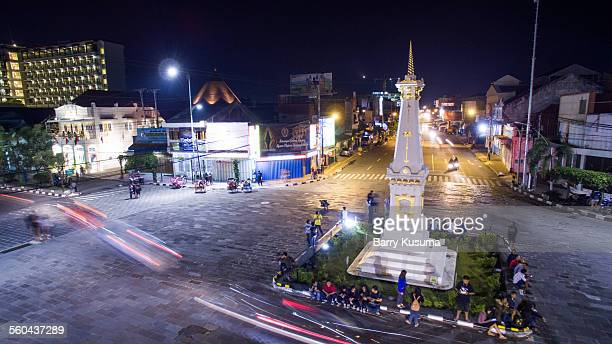 tugu landmark of jogja - yogyakarta stock pictures, royalty-free photos & images