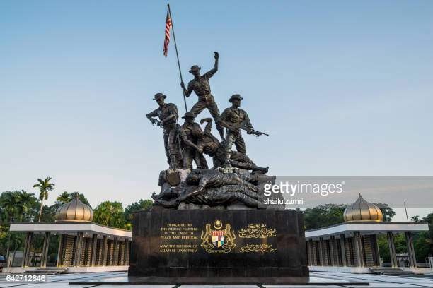 tugu negara (in local) or national monument is a monument to commemorate for those who died during world war ii. - shaifulzamri stock pictures, royalty-free photos & images