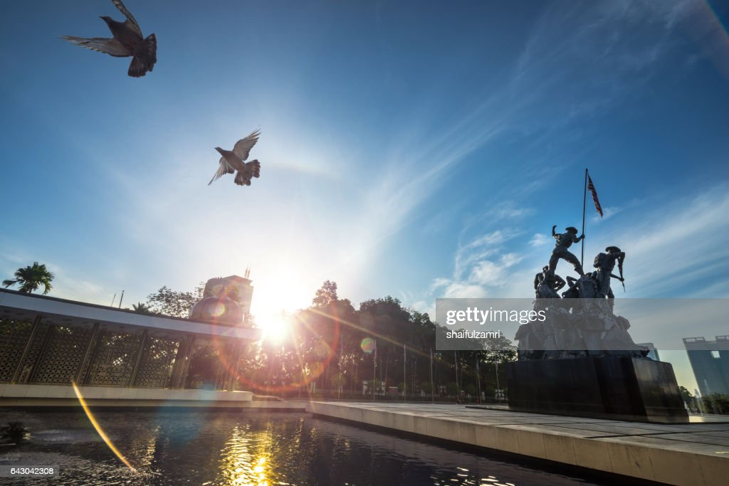 Tugu Negara (in local language) or National Monument is a monument to commemorate for those who died during World War II in Kuala Lumpur, Malaysia : Stock Photo