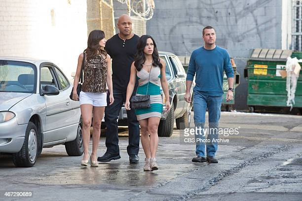 """œTuhon """" Pictured Cindy Luna LL COOL J Jessica Camacho and Chris O'Donnell Sam and Callen head to Mexico to search for Tuhon a retired assassin they..."""