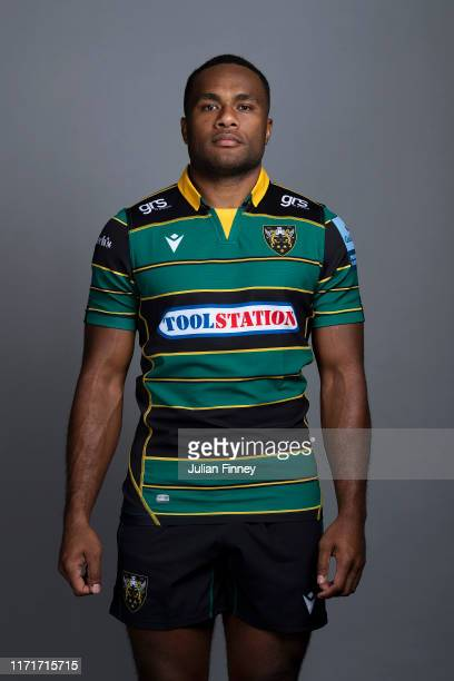 Tui Uru of Northampton Saints poses for a portrait during the Northampton Saints squad photocall for the 20192020 Gallagher Premiership Rugby season...