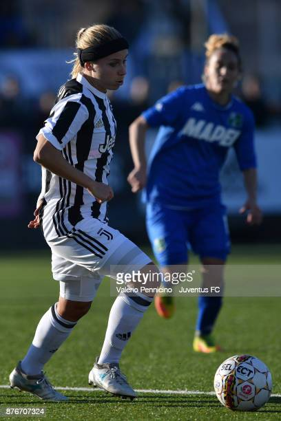 Tuija Annika Hyyrynen of Juventus Women in action during the match between Juventus Women and US Sassuolo Women at Juventus Center Vinovo on November...