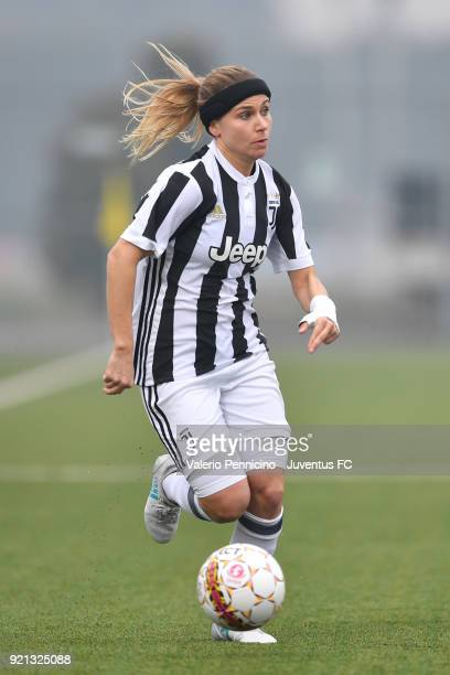 Tuija Annika Hyyrynen of Juventus Women in action during the match between Juventus Women and Empoli Ladies at Juventus Center Vinovo on February 17...